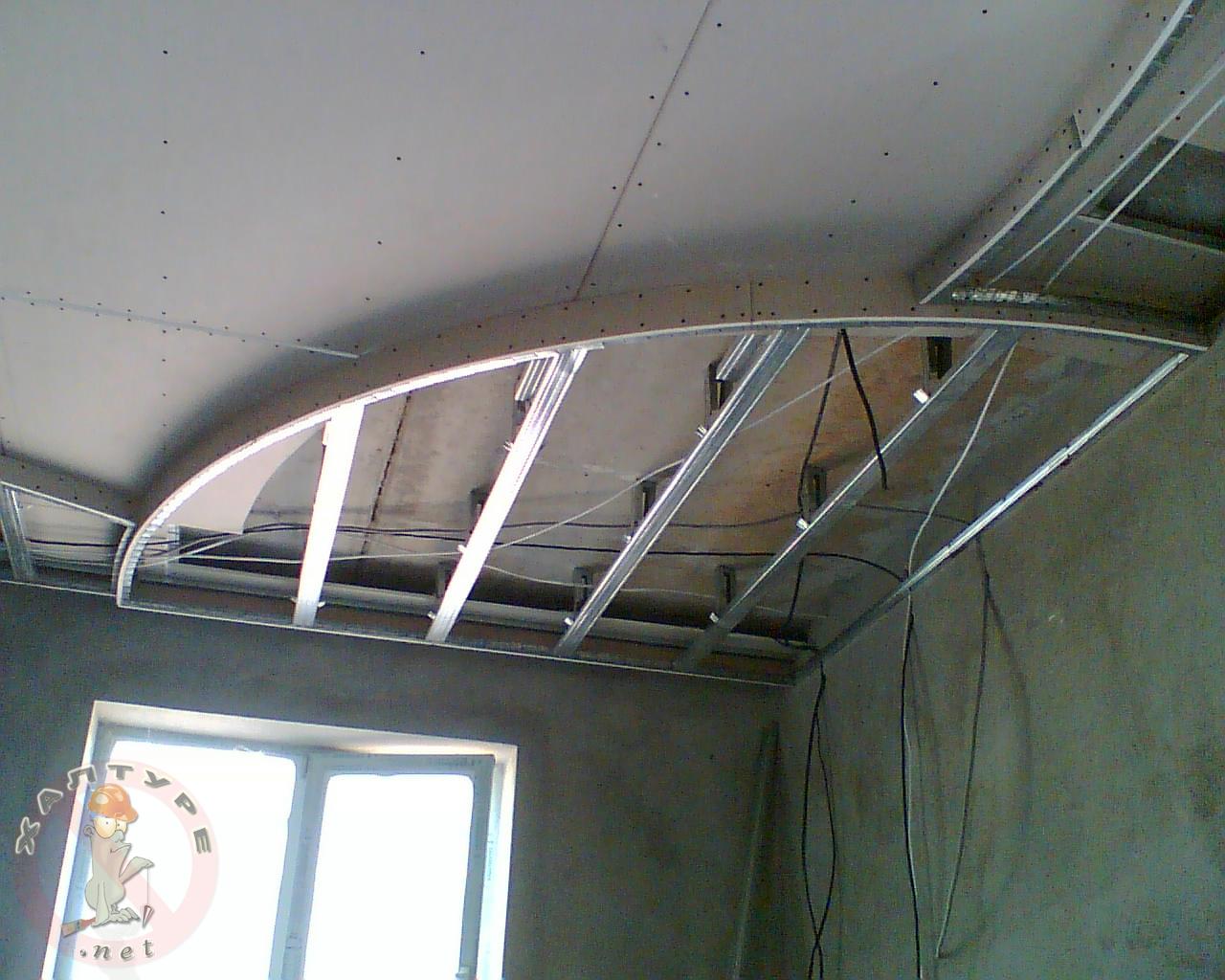 Потолок из гипсокартона своими руками фото для