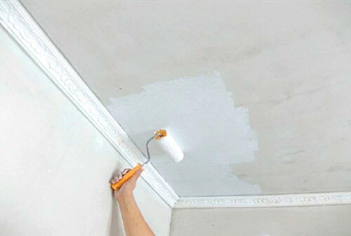 Покрасить потолки своими руками